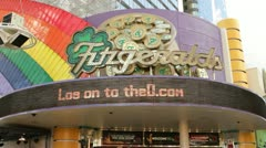 Front of Fitzgeralds Casino on Fremont street Stock Footage