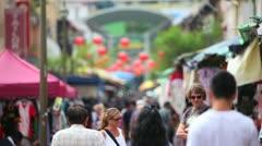 Tourists on the street walk Stock Footage