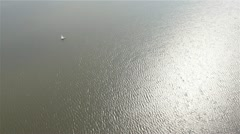 Lonely boat at sea Stock Footage