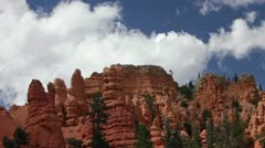 Bryce Canyon red rocks shadows clouds P HD 9789 Stock Footage