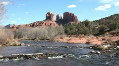 Stock Video Footage of Cathedral Rock