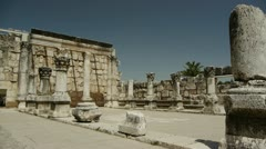 Capernaum synagogue 5 Stock Footage