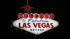 Welcome to Fabulous Las Vegas sign Stock Footage