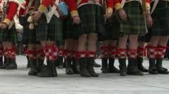 Scottish soldier 07 Stock Footage