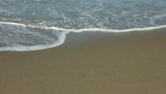 Gentle Beach Waves - stock footage