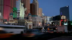 Famous intersection in Las Vegas Stock Footage