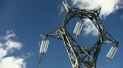 Electrical tower on blue sky (timelapse) Stock Footage