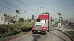Truck in street - stock footage