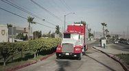 Truck in street Stock Footage