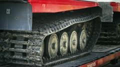Crawler Vehicle Transportation Stock Footage