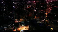 Time lapse Chicago at Night #1 - stock footage