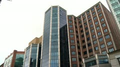 Belfast Europa Hotel Low Angle Pan Stock Footage
