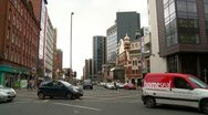 Stock Video Footage of Belfast Opera House Great Victoria St. Traffic Lights