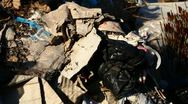 Urban illegal dump Stock Footage