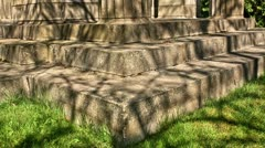 Cemetery Structure Tree Shadows HDR Time Lapse Stock Footage