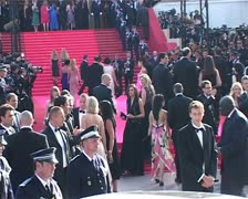 Cannes Film Festival Bai Ling Oceans 13 - stock footage