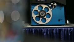 Film Projector Transfers to Stock Video Stock Footage