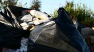 Urban illegal dump Stock Footage