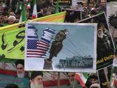 Iranian people celebrate  30th Anniversary  of Islamic revolution. 2 Stock Footage