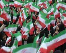 Iranian people celebrate  30th Anniversary  of Islamic revolution.  4 Stock Footage