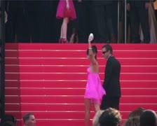 Cannes Film Festival Bai Ling Oceans13 premier Stock Footage