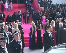 Cannes Film Festival Bai Ling on the red carpet Stock Footage