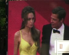 CFF Brad Pitt & Angelina Jolie screens - stock footage