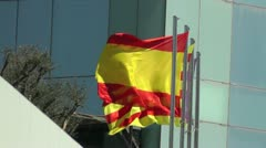 Catalan Flag in the wind Stock Footage