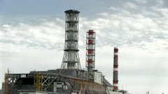 Stock Video Footage of Chernobyl reactor
