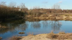 Stock Video Footage of Greenham common lake
