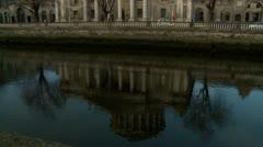 Dublin Four Courts Ireland Tilt up Stock Footage