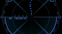 Radar GPS signal tech screen display,science sci-fi data computer navigation. Stock Footage