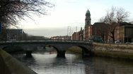 Stock Video Footage of Bridge over the river, Dublin Ireland