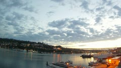 Seattle - Sunset at Gasworks Time Lapse - 1080p HD Stock Footage