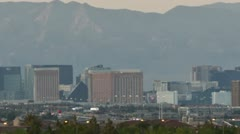 HD 30p close Time lapse of Las Vegas at sunset wide panorama Stock Footage
