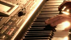 Playing on Synthesizer  1 Stock Footage