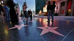Hollywood stars - stock footage
