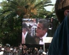 CFF George Clooney & Ellen Barkin Stock Footage