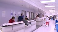 Stock Video Footage of Busy Hospital Hallway