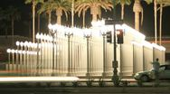 Stock Video Footage of Night Timelapse Lamps at Lacma on Wilshire