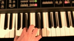 Playing on Synthesizer  3 Stock Footage