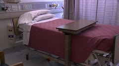 Empty hospital bed Stock Footage