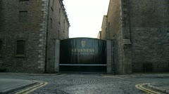 Guinness Factory Gate, Dublin - stock footage