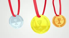 Medals loop animation Stock Footage