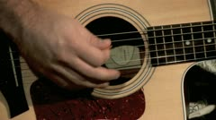 Playing on the Guitar 2 Stock Footage