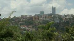 Kigali cityscape static Stock Footage