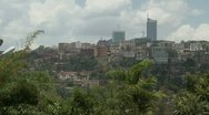 Stock Video Footage of Kigali cityscape static