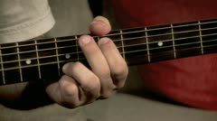 Playing on the Guitar 3 Stock Footage
