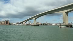 Modern Road Bridge, Itchen, Southampton Stock Footage