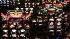 Las Vegas casino slot machine night P HD 9829 Stock Footage